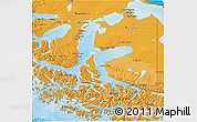 Political Shades 3D Map of TIERRA DEL FUEGO