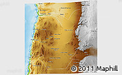 Physical 3D Map of TOCOPILLA
