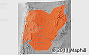 Political Shades 3D Map of TOCOPILLA, desaturated