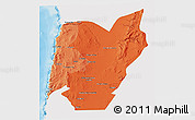 Political Shades 3D Map of TOCOPILLA, single color outside