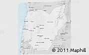 Silver Style 3D Map of TOCOPILLA