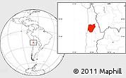 Blank Location Map of TOCOPILLA