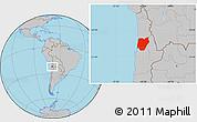 Gray Location Map of TOCOPILLA