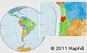 Political Location Map of TOCOPILLA