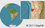 Satellite Location Map of TOCOPILLA