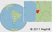 Savanna Style Location Map of TOCOPILLA