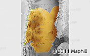 Physical Map of TOCOPILLA, desaturated