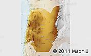 Physical Map of TOCOPILLA, lighten