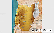 Physical Map of TOCOPILLA, satellite outside
