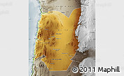 Physical Map of TOCOPILLA, semi-desaturated