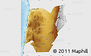 Physical Map of TOCOPILLA, single color outside