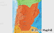 Political Shades Map of TOCOPILLA