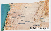 Satellite Panoramic Map of TOCOPILLA
