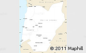 Classic Style Simple Map of TOCOPILLA