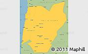 Savanna Style Simple Map of TOCOPILLA