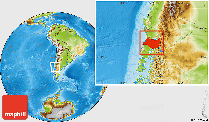 map of valdivia chile Physical Location Map Of Valdivia map of valdivia chile
