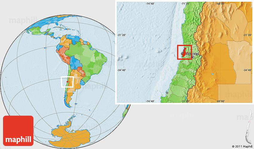 Political Location Map of VALPARAISO