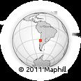 Outline Map of Vina Del Mar
