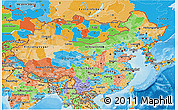 Political 3D Map of China
