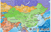 Political Shades 3D Map of China
