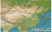 Satellite 3D Map of China