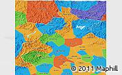 Political 3D Map of Beijing
