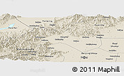 Shaded Relief Panoramic Map of Changping