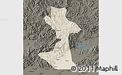Shaded Relief Map of Huairou, darken
