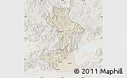 Shaded Relief Map of Huairou, lighten