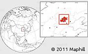 Blank Location Map of Beijing