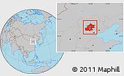 Gray Location Map of Beijing