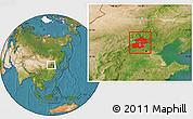 Satellite Location Map of Beijing