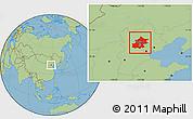Savanna Style Location Map of Beijing