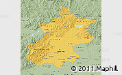 Savanna Style Map of Beijing