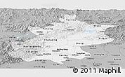 Gray Panoramic Map of Beijing