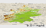 Physical Panoramic Map of Beijing, shaded relief outside