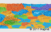 Political Panoramic Map of Beijing