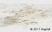 Shaded Relief Panoramic Map of Beijing, lighten
