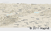Shaded Relief Panoramic Map of Beijing