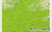 Physical Map of Shunyi