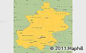 Savanna Style Simple Map of Beijing