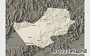 Shaded Relief Map of Yanqing, darken