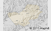 Shaded Relief Map of Yanqing, desaturated