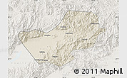 Shaded Relief Map of Yanqing, lighten