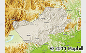 Shaded Relief Map of Yanqing, physical outside