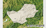 Shaded Relief Map of Yanqing, satellite outside