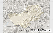 Shaded Relief Map of Yanqing, semi-desaturated