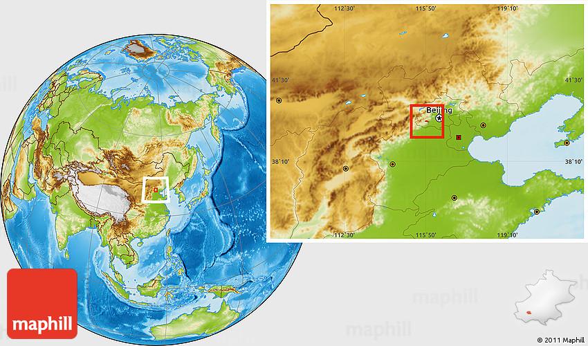 physical location map of yanshan qu