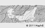 Gray Panoramic Map of Ba Xian