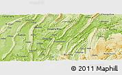 Physical Panoramic Map of Ba Xian
